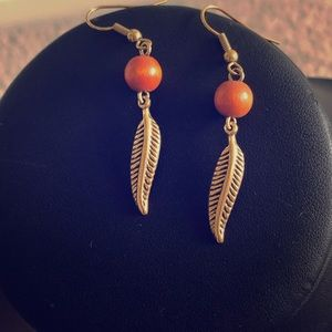Jewelry - Metal feather earrings from Lord and Taylor